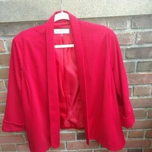 Drape front blazer